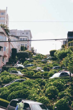 Lombard Street. They really do drive on it.